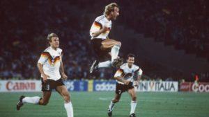 Em 1990, a Alemanha levou a melhor sobre a Argentina.