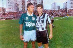 Amoroso e Túlio Maravilha em 1994.