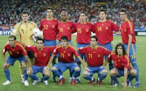 Geração da Seleção Espanhola de Futebol em 2006.