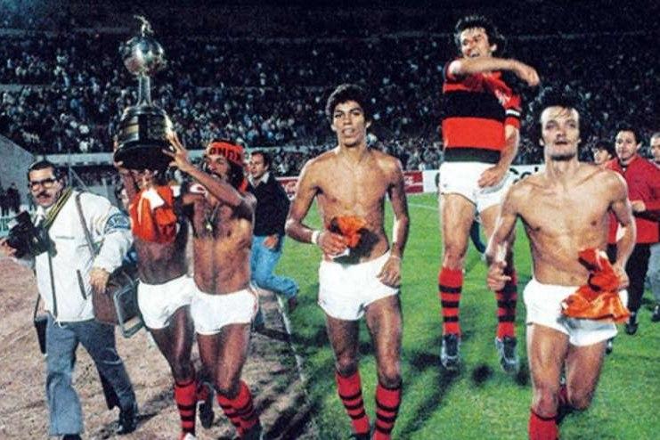 Flamengo campeão da Libertadores de 1981.