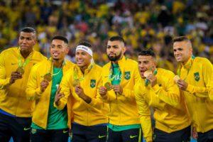 Seleção Brasileira de Futebol conquista seu inédito ouro olímpico.