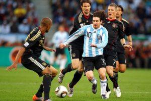 Alemanha e Argentina em 2010.