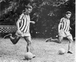 Didi ao lado de Garrincha no Botafogo.