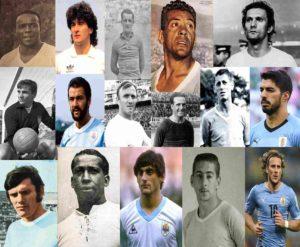 Grandes ídolos da história da Seleção Uruguaia de Futebol.