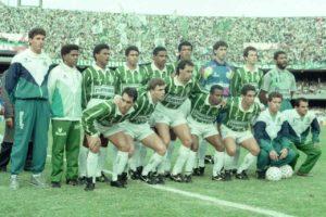 Palmeiras em 1993, na final do Campeonato Paulista