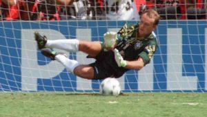 Claudio Taffarel ídolo da seleção brasileira.