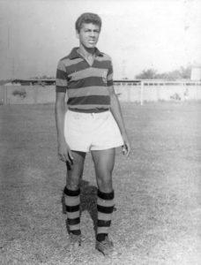 César Maluco ainda jovem no Flamengo.