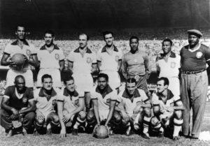 Jair da Rosa Pinto na Copa do Mundo de 1950.