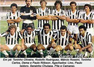 Passagem pelo Santos em meio a grande elenco.