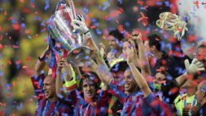 FC Barcelona em sua segunda conquista de Liga dos Campeões.