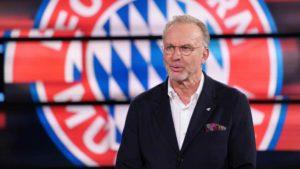 Rummenigge como CEO do Bayern Munich.
