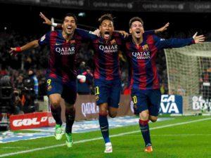 Messi, Suaréz e Neymar.