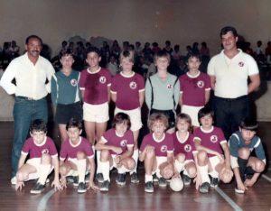 Infância enquanto atuava pelo Juventus da Mooca no futebol de salão.