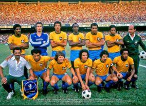 Seleção do Brasil em 1977.