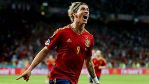 Fernando Torres na seleção espanhola.