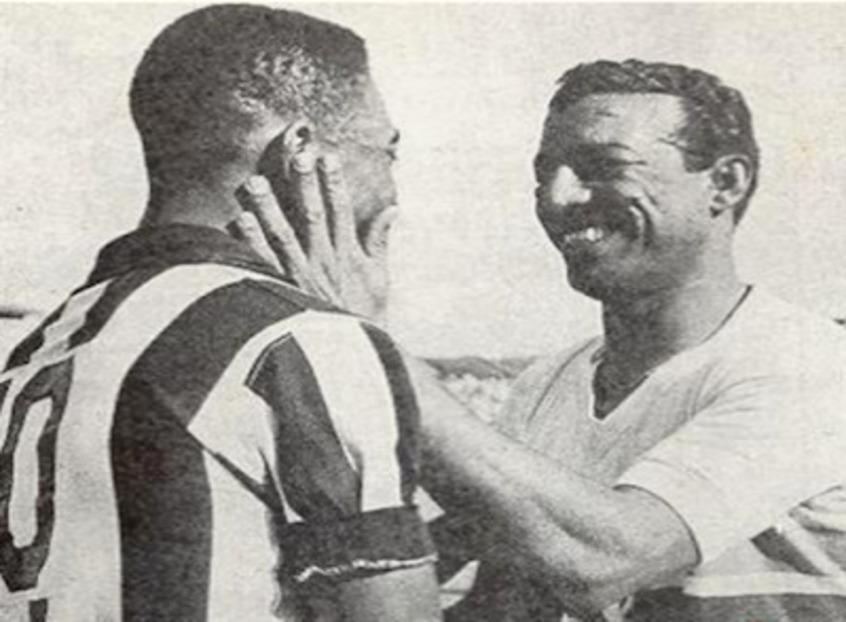 Rei Pelé e o Mestre Ziza.