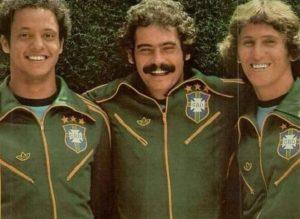 Reinaldo, Rivellino e Zico em 1978.