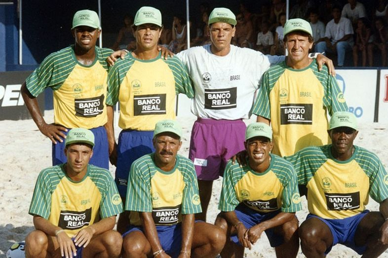 Seleção de Beach Soccer em 1995.