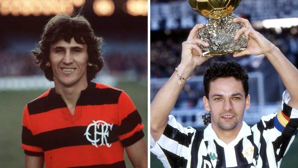 Zico ou Baggio: Quem jogou mais?